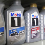1 litre bottles of Mobil 1 motorcycle engine oil